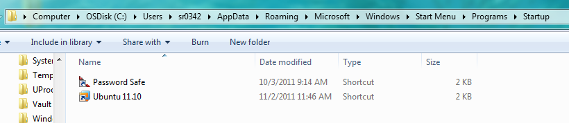 Windows Startup Folder